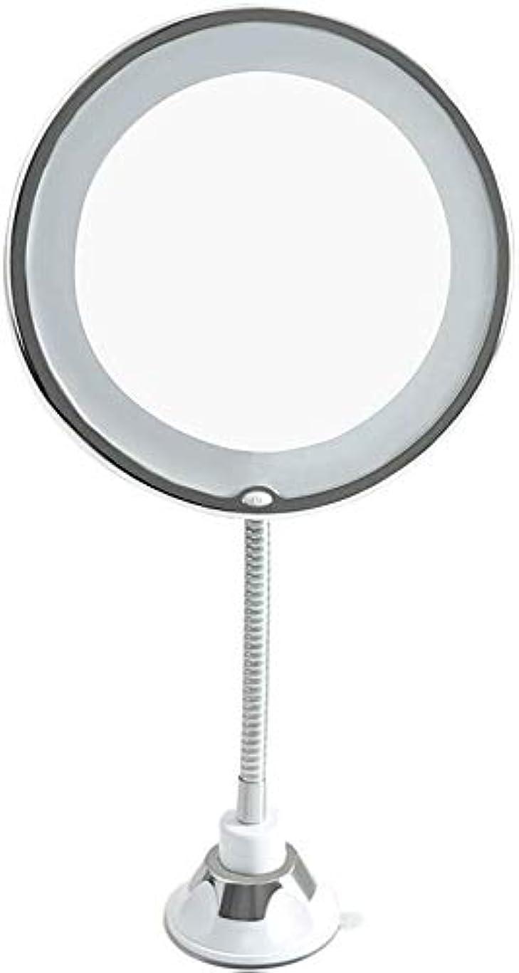 シュリンクホップスカウトCXMHZJ 拡大鏡バニティミラー、自然白色LEDライトプレミアム品質の鏡を備えたバスルームや寝室のテーブルトップ用化粧鏡付ライト、 H4Z0J2
