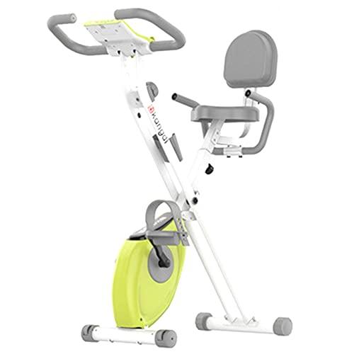 BOTOWI Cyclette Fitness Exercise Bike, Cyclette con Sedile Comfort Bicicletta Pieghevole da casa Pedaliera Riabilitazione, capacità di Carico 120 kg, Cyclette per l'allenamento Integrato