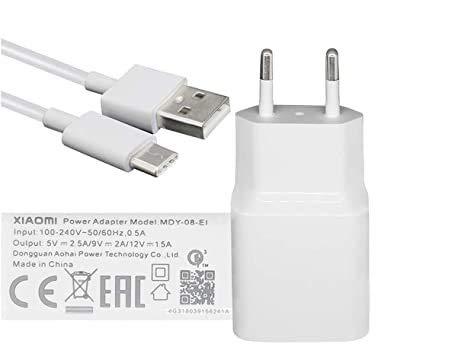 TPC - Cargador Xiaomi Original MDY-08-EI (18W) USB-C 3.0 Carga rápida para Mi 5, Note 2, Mi Mix, Mi 6, ...