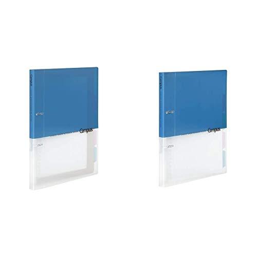 【セット買い】コクヨ ルーズリーフバインダー キャンパス A4 2穴 最大100枚 ブルー ル-PP158B & ルーズリーフバインダー キャンパス B5 2穴 最大100枚 ブルー ル-PP358B
