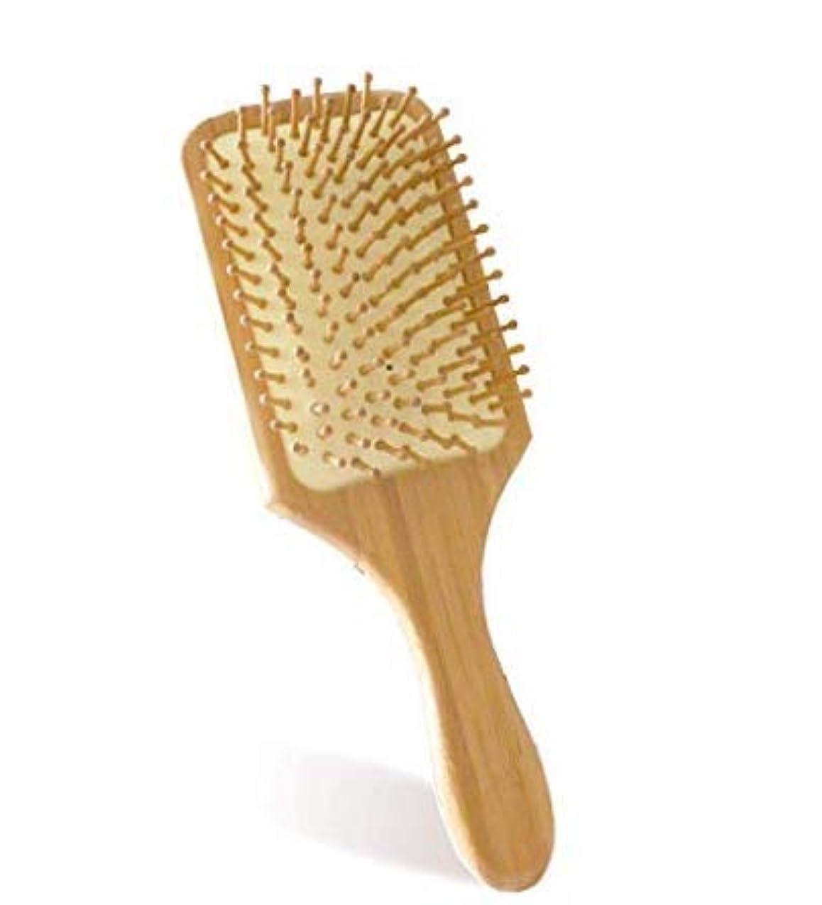 カフェ所得コール木製の櫛ヘアブラシの頭皮の頭皮マッサージ櫛の血液循環促進の間伐改善のヘアケア