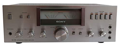 Sony TA-515 Stereo Verstärker in Silber - VU Meter