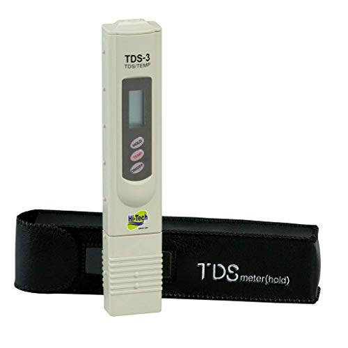Hi-Tech Tds Meter for ro Water Testing Meter, Digital LCD Tds Meter Water filter Tester for Measuring Tds/Ppm with Carry Case - 1 Pcs