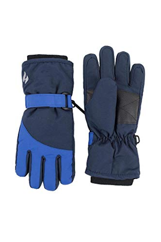 HEAT HOLDERS - Enfant Junior Hiver Chaud Polaire Impermeable Thermo Neige Ski Gants (5-10 ans, Navy/Blue)