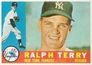 Baseball Card 1960 Topps # 96 Ralph Terry New York Yankees EX Yankees