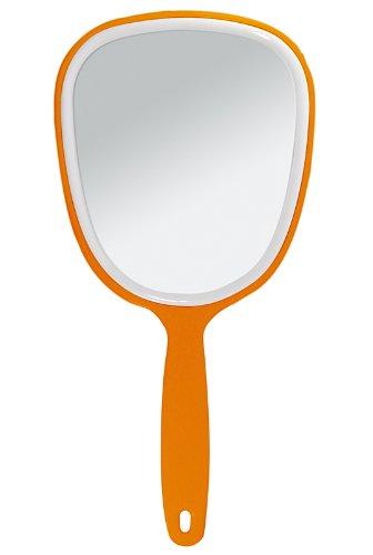 Handspiegel mit ovaler Form Kosmetex Kosmetik-Spiegel, normal 1-fach, Orange