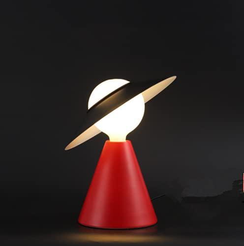 Creativo Personalità Lampada da tavolo Moderno minimalista nordico rosso Lampada da scrivania E27 salotto Camera da letto Lampade da comodino Decorazione metallo Illuminazione da tavolo Ø30 * H32cm