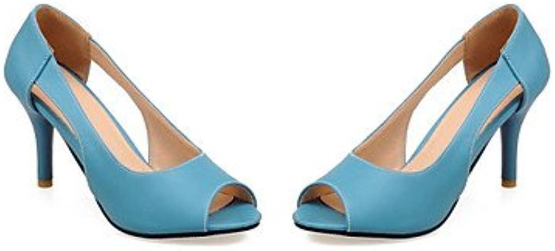 Zormey Chaussures Femmes Talon Peep Toe Talons Dress   Bleu   Jaune   D¨ contract¨  Rose Bleu Us6.5-7   Eu37   Uk4 5-5   Cn37
