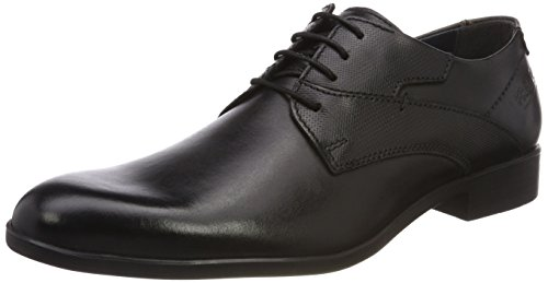 FRETZ men Oskar, Zapatos Cordones Derby Hombre, Negro