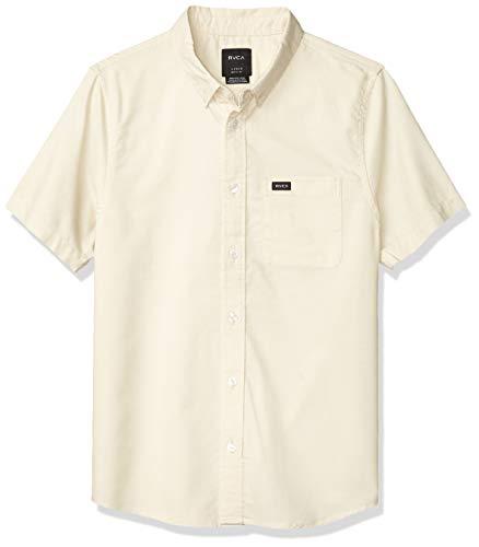 RVCA Jungen Thatll DO Oxford Short Sleeve Woven Shirt Button Down Hemd, Sunwash, Mittel