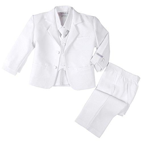 Spring Notion Baby Boys' Formal White Dress Suit Set 12M (Medium)