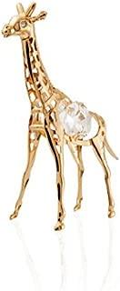 24K Gold Plated Crystal Studded Gold Giraffe Ornament by Matashi
