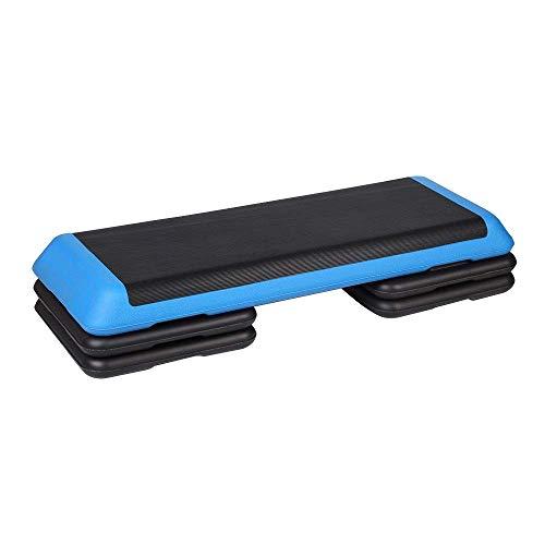 Aerobic Stepper Unisex Sports Aerobic Step Ejercicio Ajustable Stepper Home Yoga and Gym Fitness Workout Board Mejora La Coordinación Plataformas De Pasos Entrenamiento Fitness (Color: Blue, Size: 11