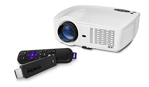 ONN ONA19AV902 PORTABLE PROJECTOR WHITE (Renewed)