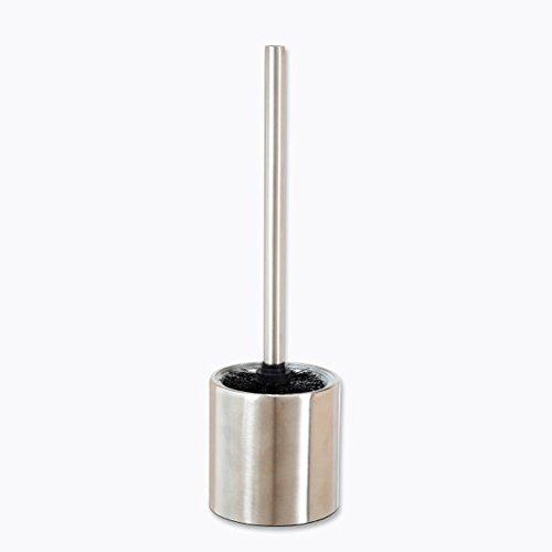 Stand Wc Bürste mit Glaseinsatz aus hochwertigem Edelstahl inkl. 1 Ersatzbürstenkopf 37 x 10 cm