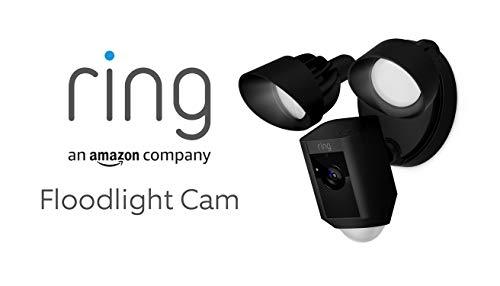 Ring Floodlight Cam | Cámara de seguridad HD con focos integrados, comunicación bidireccional y alarma sonora | Incluye una prueba de 30 días...