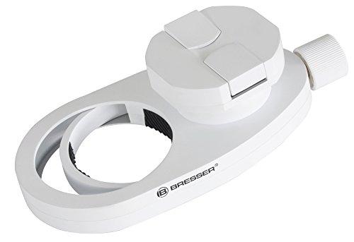Bresser Universal Smartphone Adapter für Teleskope, Mikroskope, Spektive, für Okulare bis 68 mm Durchmesser und geeignet für Smartphones mit einer Breite von 50-88mm