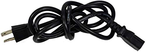 Yustda 2-Prong AC in Power Cord Cable Plug Lead Compatible with Gourmia GMF600 GMF600W 6 Can 4Liter GMF668 GMF668BL 4L GMF900 GMF-900 Portable Thermelectric 9 Can 7 Liter Mini Fridge Cooler Warmer