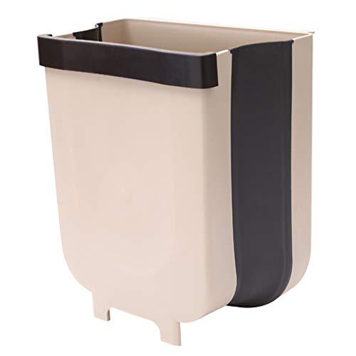 INORZYI Wall Mounted Folding Waste Trash Bin Home Kitchen Cabinet Door Hanging