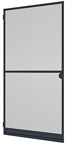Windhager Tensor Expert, mosquitera Marco de Aluminio para Puertas, acortable Individualmente, 100 x 210 cm, Antracita, 03903