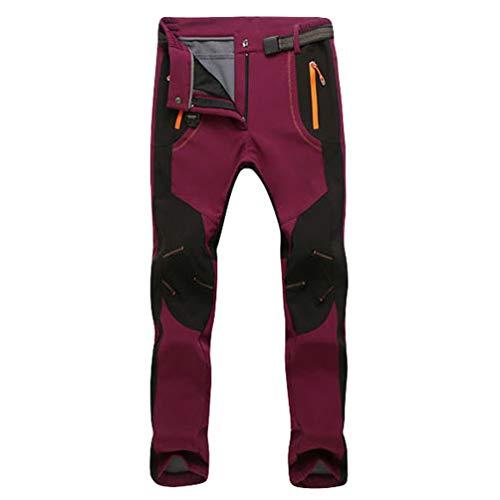 Angyu Impermeables Esquí Pantalones Softshell para Unisex Trekking Escalada Montaña Camping...