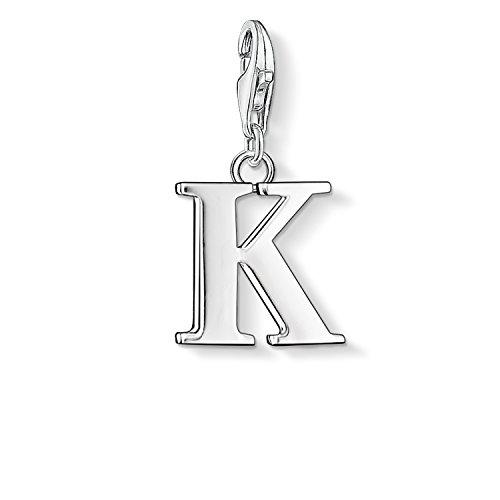 Thomas Sabo Damen-Charm-Anhänger K Buchstabe Charm Club 925 Sterling Silber 0185-001-12