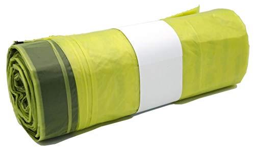 10 Rollen Gelber Sack, Gelbe Säcke mit praktischem Zugband, 90 Liter, 22µ - Wertstoffsack - extra stark