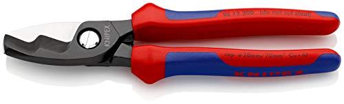 KNIPEX 95 12 200 Cortacables con filo de corte doble con fundas en dos componentes 200 mm