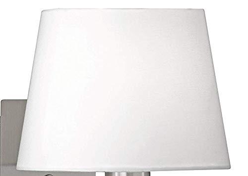 E27 Stoffschirm 39281 Textil Ersatzschirm für Tischleuchte, Stehlampe, Wandlampe,Lampenschirm in weiß