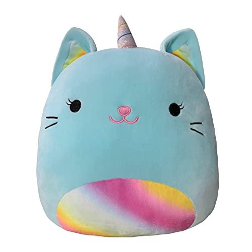 25-80cm Pillow Stuffed Animals Soft Big Plushie Unicorn Cat Pillow Kawaill Room Decor Sleep Cushion Birthday Gifts for Kids Girls 25CM Green