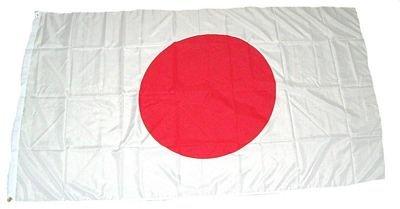 MM Japan Flagge/Fahne, wetterfest, mehrfarbig, 150 x 90 x 1 cm, 16301
