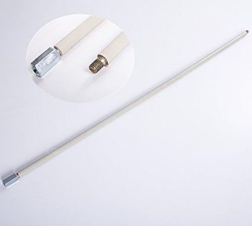 Schubstange Flexibel Putzstab 100 cm Verlängerung für Besen Gewinde M12 Grau
