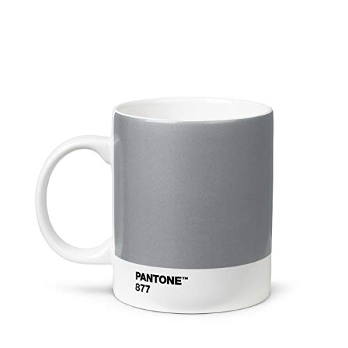 Pantone 18003 Kaffeetasse, Porzellan, silber