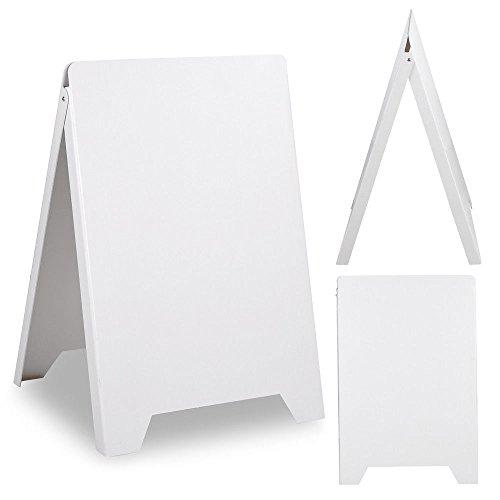 Double Side Sidewalk Pavement A Frame PVC Sandwich Board Dryerase Menu Sign