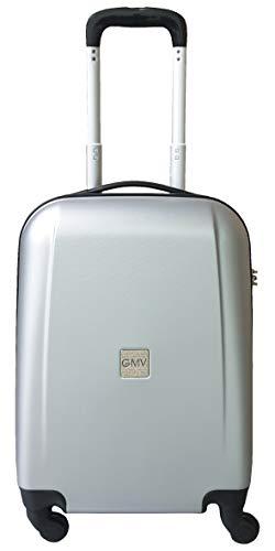 Maletas Equipaje de mano rigidas cascara dura 4 ruedas equipaje de cabina permetido ESPECIAL COMPAÑIAS LOW COST RYANAIR EASYJET (PLATEADO)