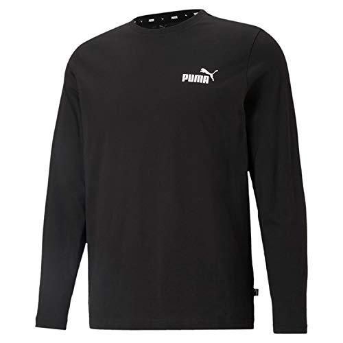 PUMA Essentials Small Logo Longsleeve Herren schwarz/weiß, XL (56-58 EU)