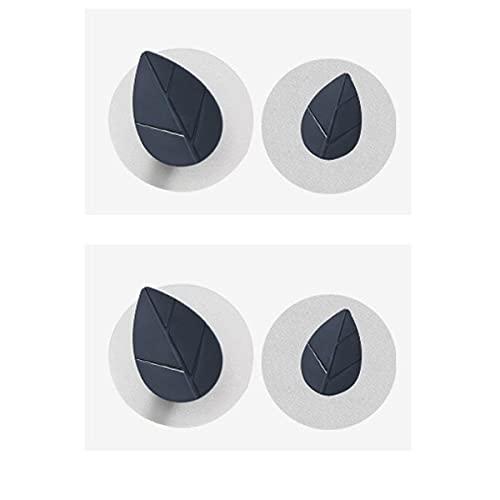 STROG 4 ganchos adhesivos para pared de plástico fuerte, sin clavos, ganchos extraíbles para dormitorio, baño, impermeable, para cocina, baño, oficina, armario y dormitorio (Style11, azul)