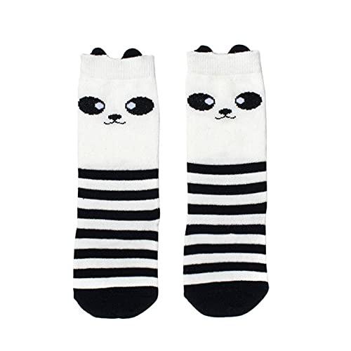 Baby Girl Leggings Fox Cotton Cute Little People Calcetines hasta la Rodilla Ropa para niños Calcetines Unisex para niños pequeños Cartoon-Panda, 1 a 3 años