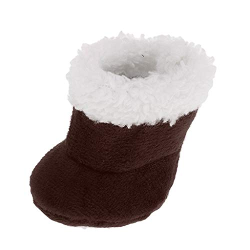 Hellery Preciosos Zapatos de Botas de Felpa Marrón para Mellchan Baby Doll 9-11 Pulgadas Reborn Girl Doll