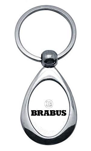 Print Corner Schlüsselanhänger Bullit aus versilbertem Metall – Brabus (Modell 2)