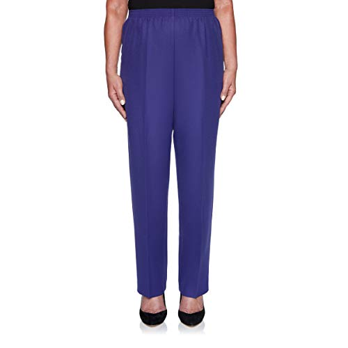Alfred Dunner Women's Classics Elastic Waist Proportioned Short Pull-On Pant (10 Petite Short