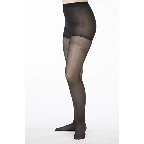 Allegro 8-15 mmHg Essential 83 Sheer Support Pantyhose (Black) X-Tall