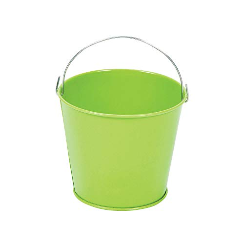 Lime Green Pails with Handles (12 Pack) Metal. - Spring & Party Favors