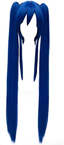 MSHUI Fairy Tail Wendy Marvell Dark Ponytail Costume store half Blue Double