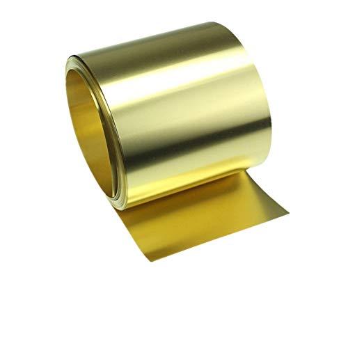 Xinanlongjb ZZB-Metals, 1meter H62 Thin Hoja Brass Strip Espesor 0,1/0,15/0,2/0,3/0,5 mm de Oro de película de Alta pureza Brass Foil Placa de Corte de Metal Laser