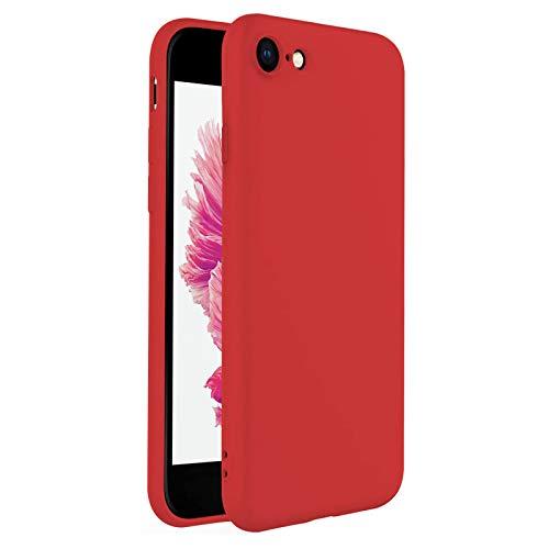 TBOC Cover per Apple iPhone 6 [4.7']- Custodia Rigida [Rossa] Silicone Liquido Premium [Sensazione Morbida] Fodera Interna Microfibra [Protegge Fotocamera] Antiscivole Resistente Sporco Graffi