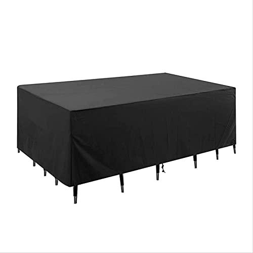HTHJA Oxford Funda Protectora para Mesa de Comedor,,Cubierta de Muebles de Patio de jardín al Aire Libre, Cubierta de Muebles a Prueba de Sol y Lluvia 123 * 123 * 74cm