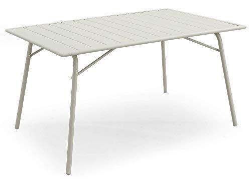Tavolo da Giardino Pieghevole 140x90x75,3 cm in Acciaio Kraus Brunelleschi Bianco