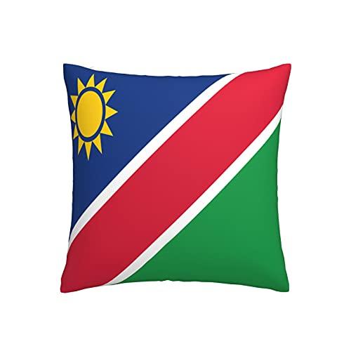 Kissenbezug mit Flagge von Namibia, quadratisch, dekorativer Kissenbezug für Sofa, Couch, Zuhause, Schlafzimmer, drinnen & draußen, niedlicher Kissenbezug 45,7 x 45,7 cm