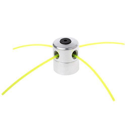 Xiuinserty - Cabezal de aluminio para cortacésped con 4 líneas, cabezal de cepillo y cortacésped accesorios